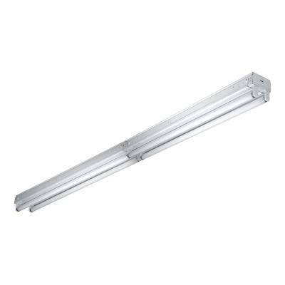 8 ft. 4-Light 32-Watt White Enamel Strip Light with T8 Ballast Instant Start