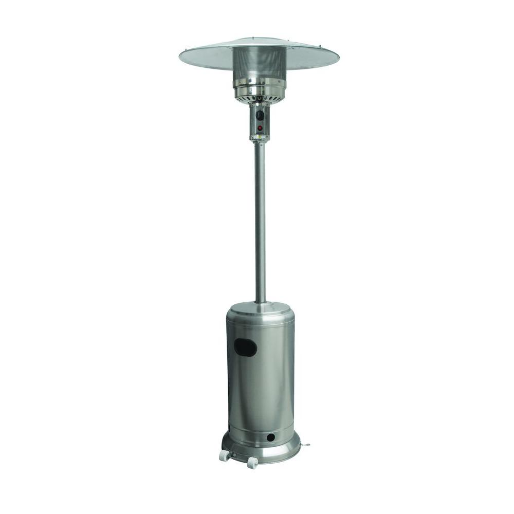null 40,000 BTU Stainless Steel Propane Gas Patio Heater