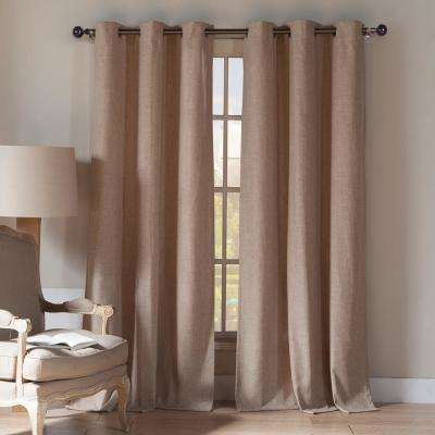 Keighley 112 in. L x 54 in. W Curtain Panel in Wheat (2-Pack)