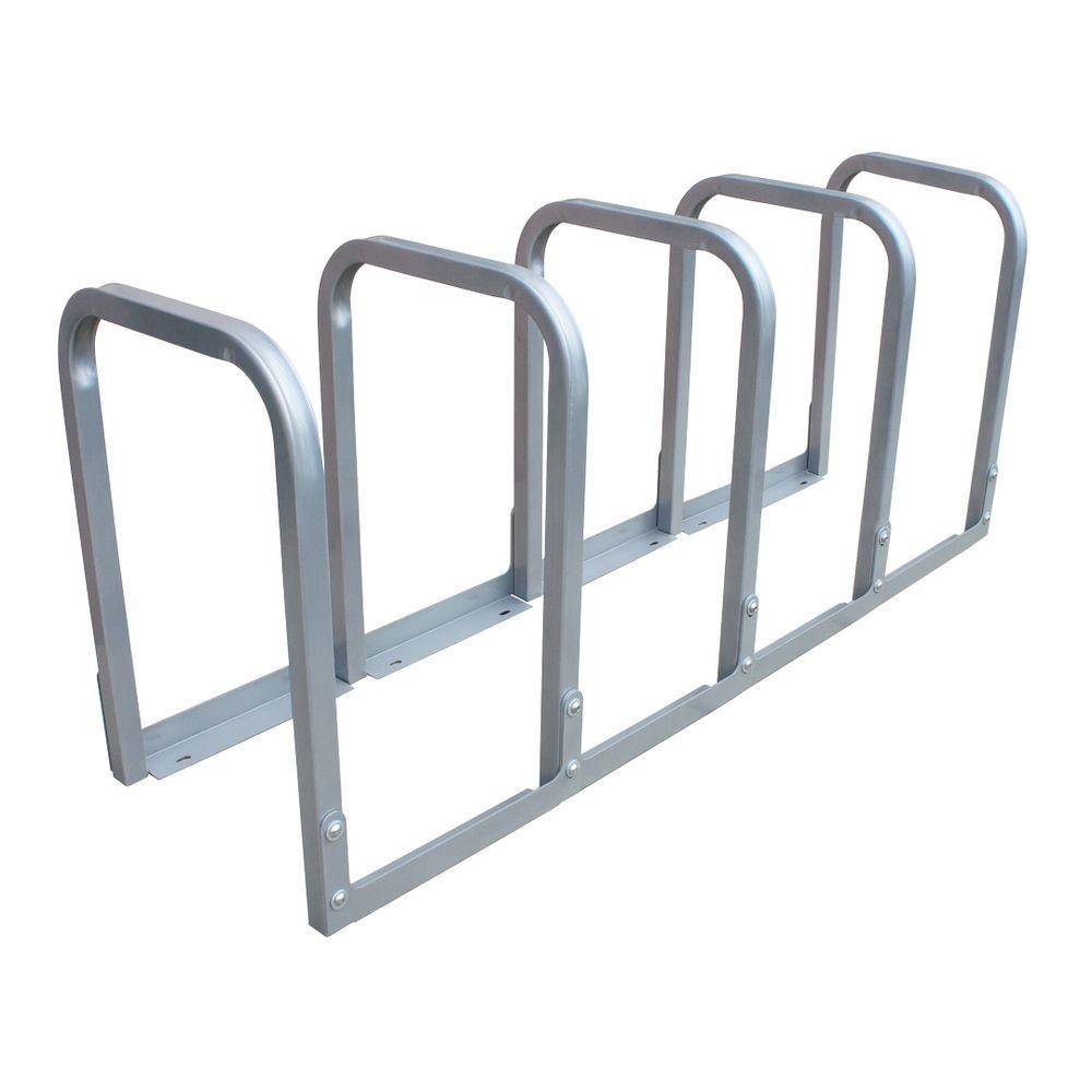 Dero U-Lockit 10-Bike 66 in. Galvanized Bike Rack