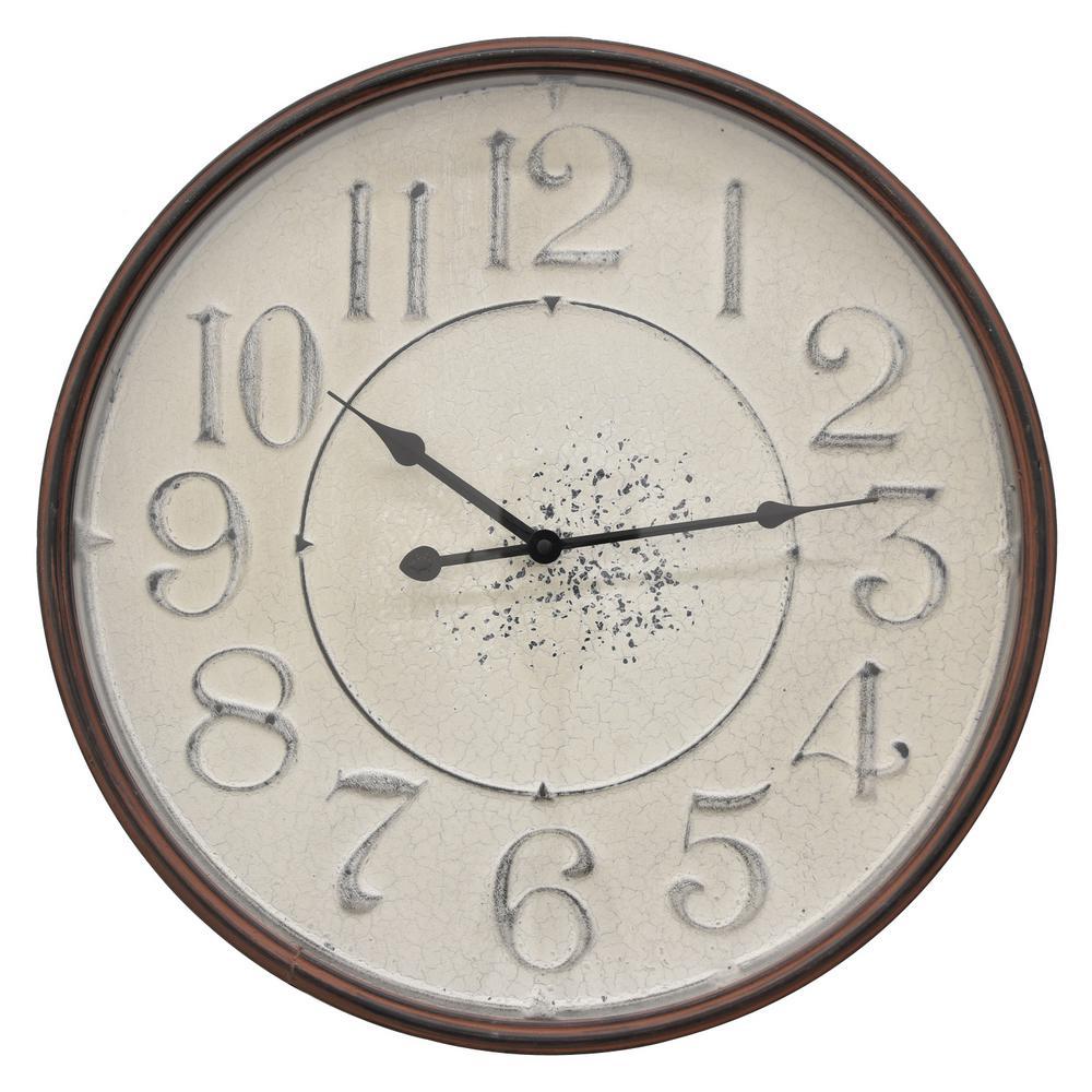 19 in. Bronze Metal Wall Clock