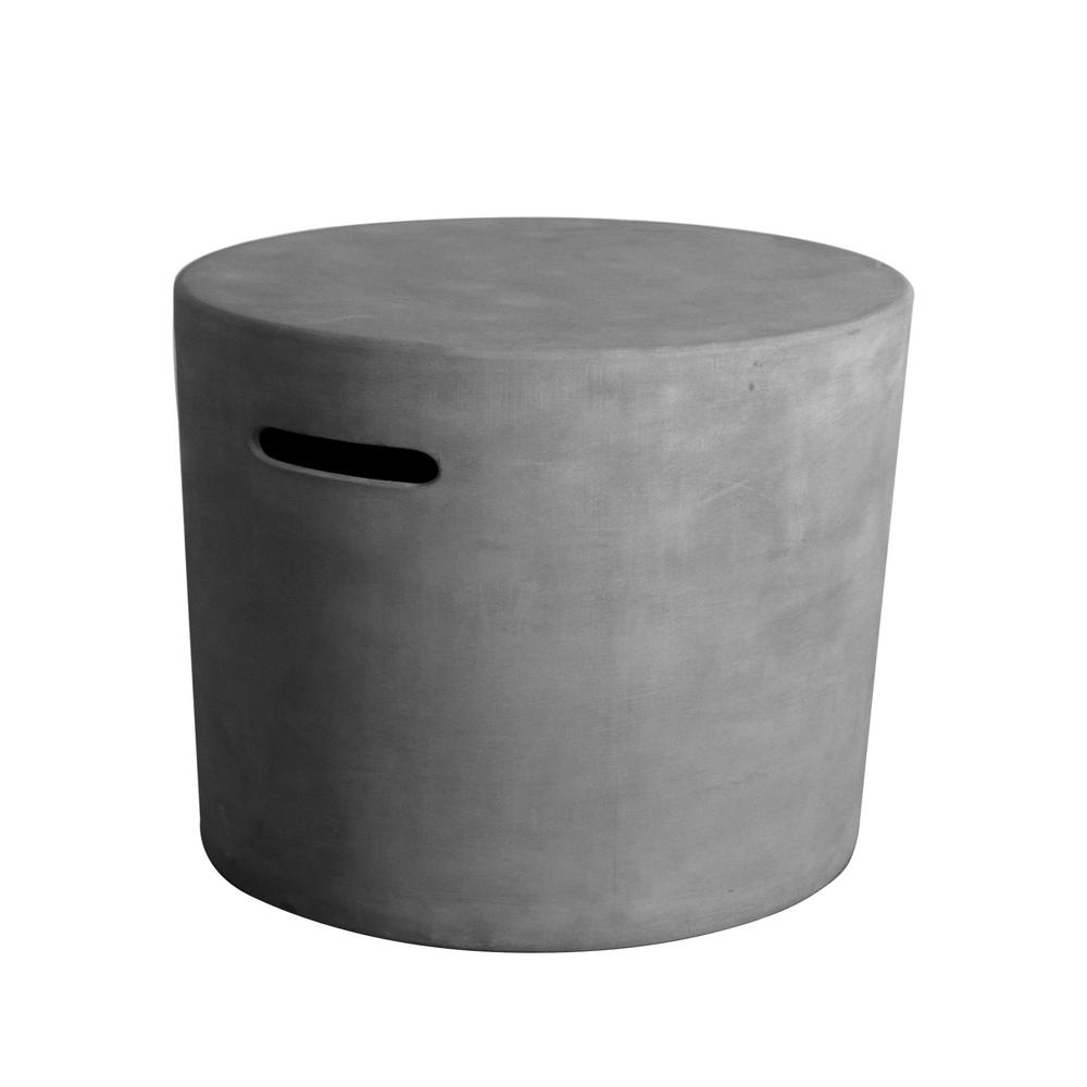 Outdoor Propane Tank Cover Hideaway Firepit Accessories Side Table - Gray - Elementi