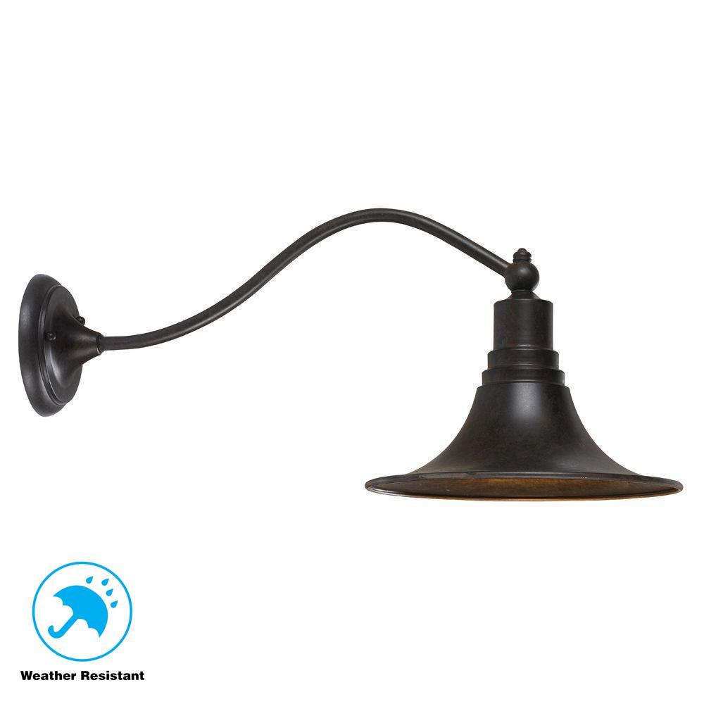 Dark Sky Kingston Collection Wall-Mount Outdoor Bronze Lantern
