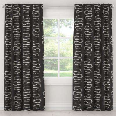50 in. W x 108 in. L Unlined Curtains in Snake Climb Ink
