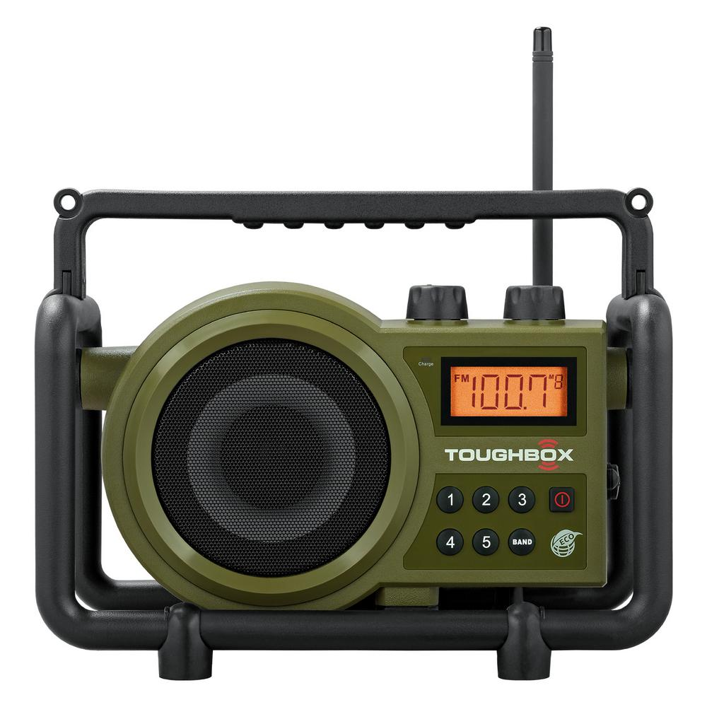 FM Stereo//AM Digital Tuning Portable Radio with Protective BumpBy Sangean.