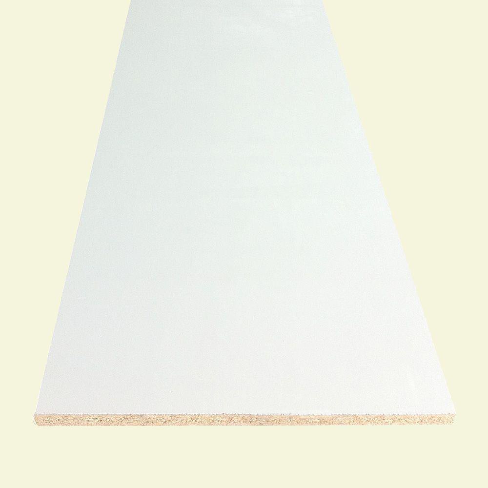 3/4 in. x 11-1/4 in. x 8 ft. White Bullnose Particleboard