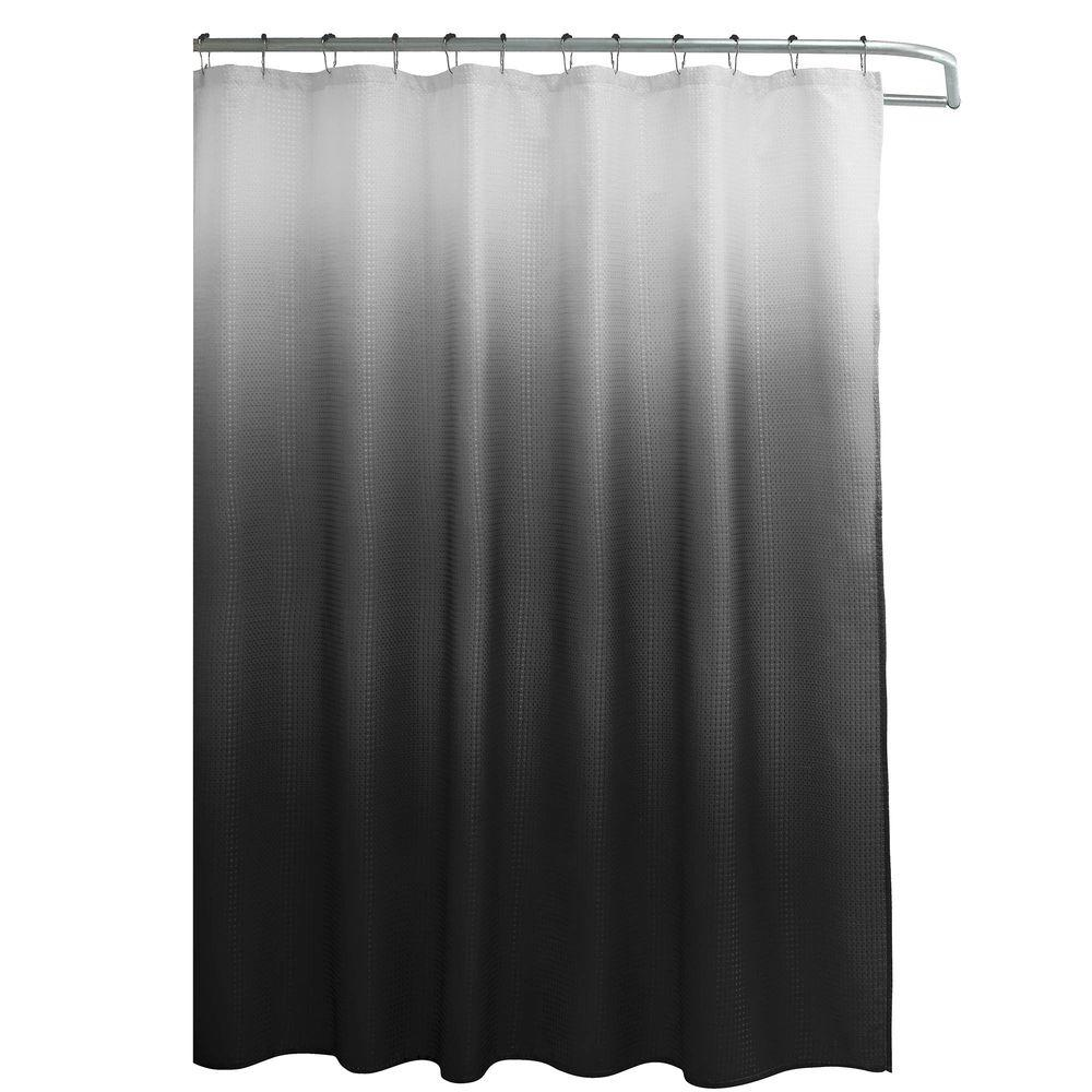 Creative Home Ideas Ombre Waffle Weave 70 in. W x 72 in. L Shower ...