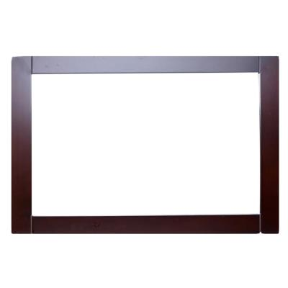 Aberdeen 36 in. W x 30 in. H Framed Rectangular Bathroom Vanity Mirror in Teak