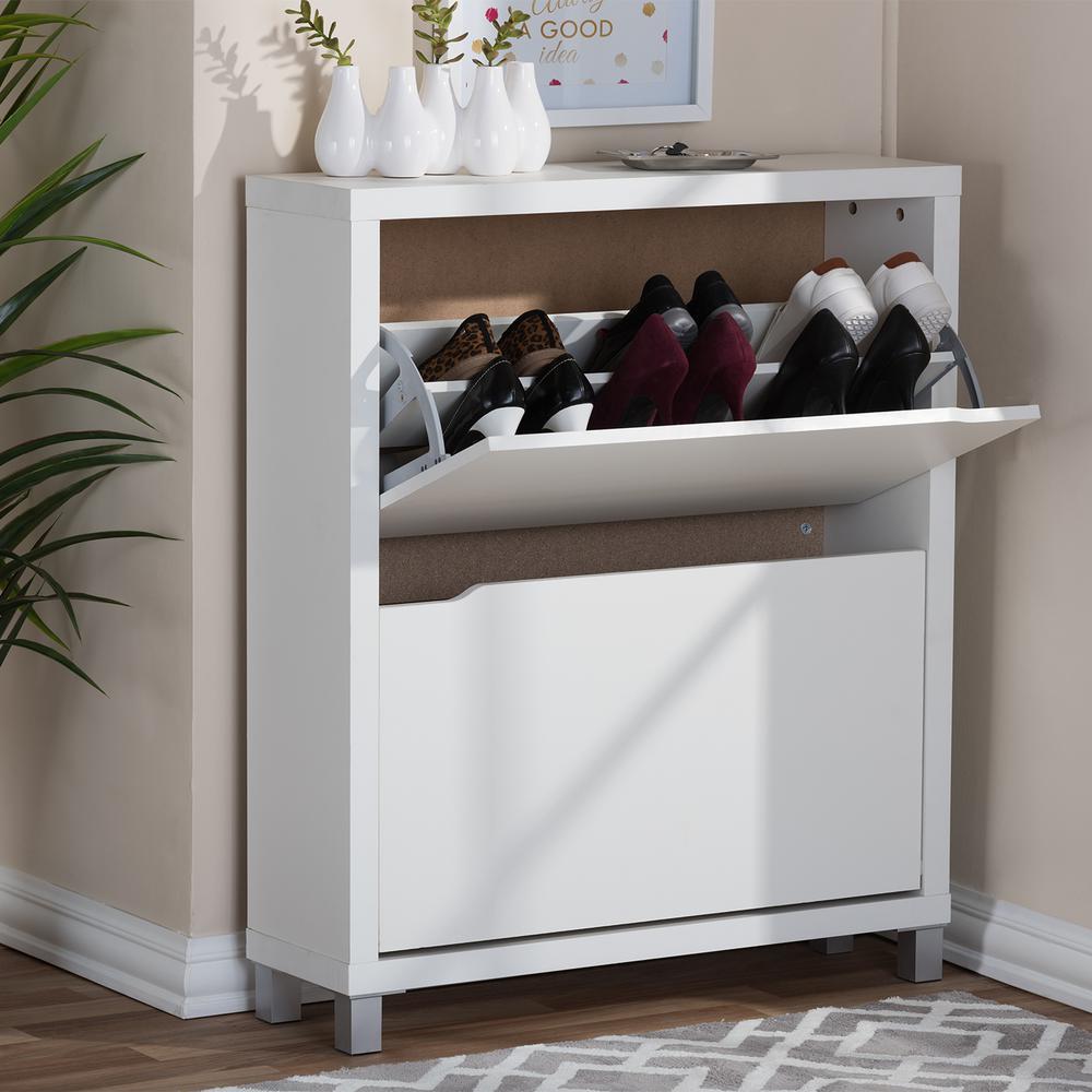 Charmant Baxton Studio Simms White Cabinet