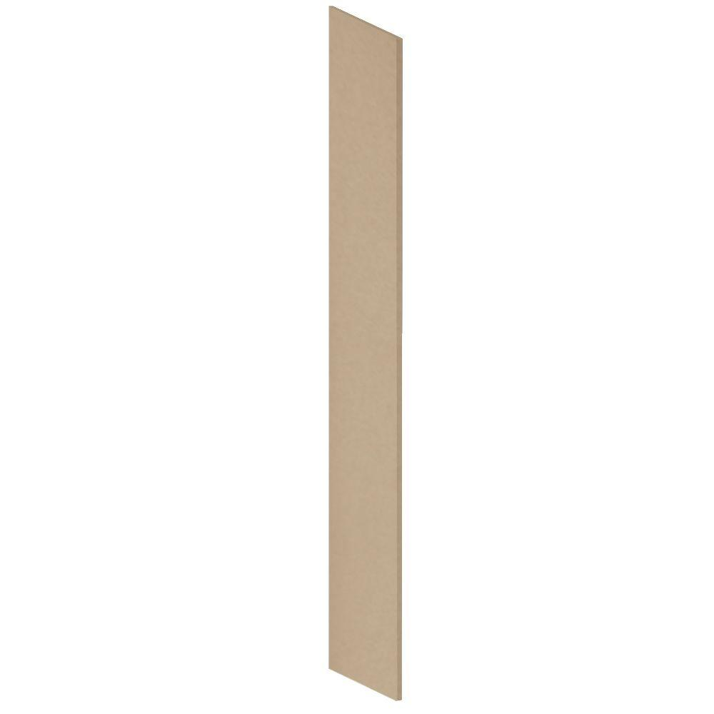 Salsbury Industries Heavy Duty Plastic Side Panel with Sloping Hood for Heavy Duty Plastic Locker in Tan