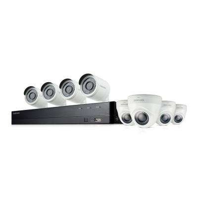 8-Channel Full HD Video Indoor/Outdoor Security System with Internal 2TB