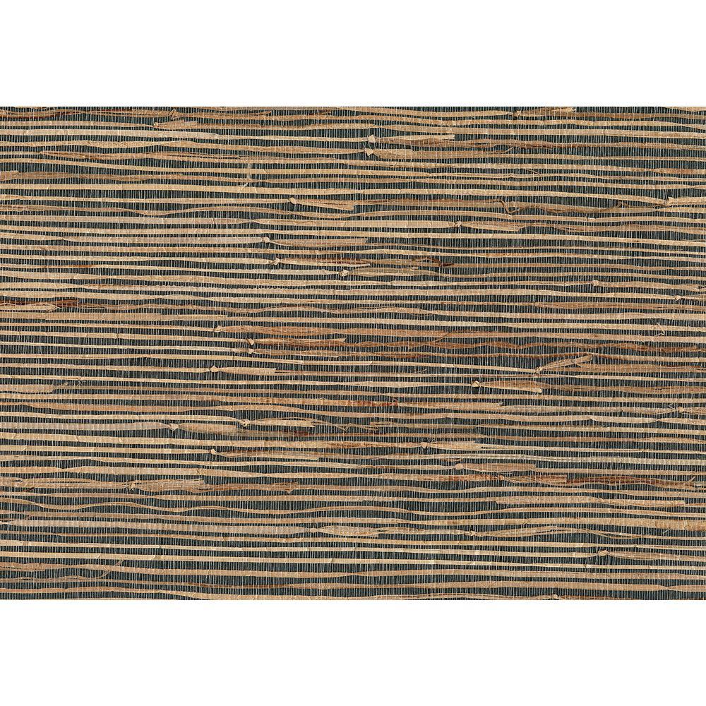 8 in. x 10 in. Masami Grey Grasscloth Wallpaper Sample