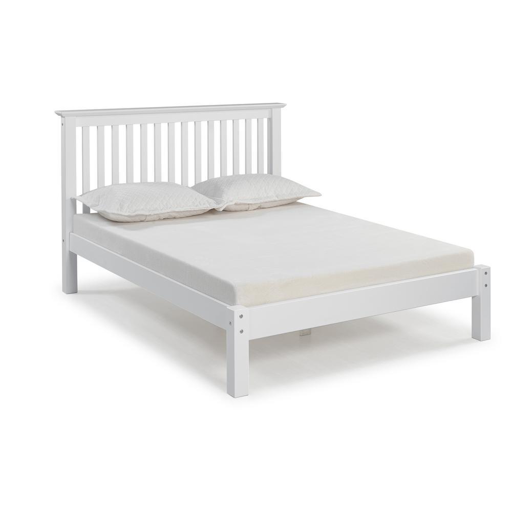 Barcelona White Queen Bed