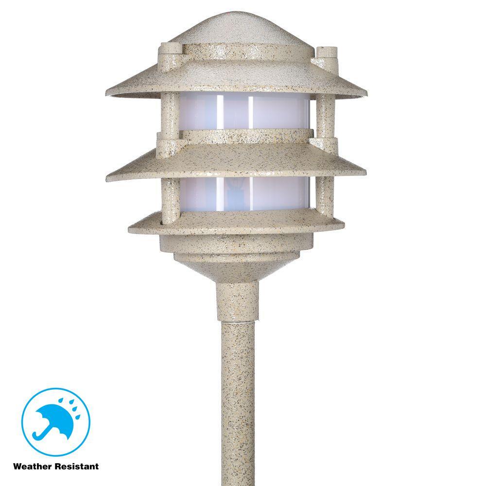 Hampton Bay Low-Voltage 11-Watt Sand Outdoor Halogen 3