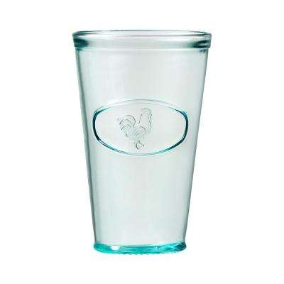 Rooster 16 oz. 6-Piece Clear Green Glass Hiball Drinkware Set
