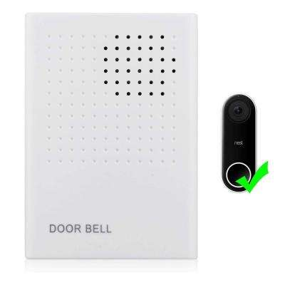 Wired Doorbell Chime Compatible with Nest Hello Video Door Bell - Perfect Add-On for Your Doorbell