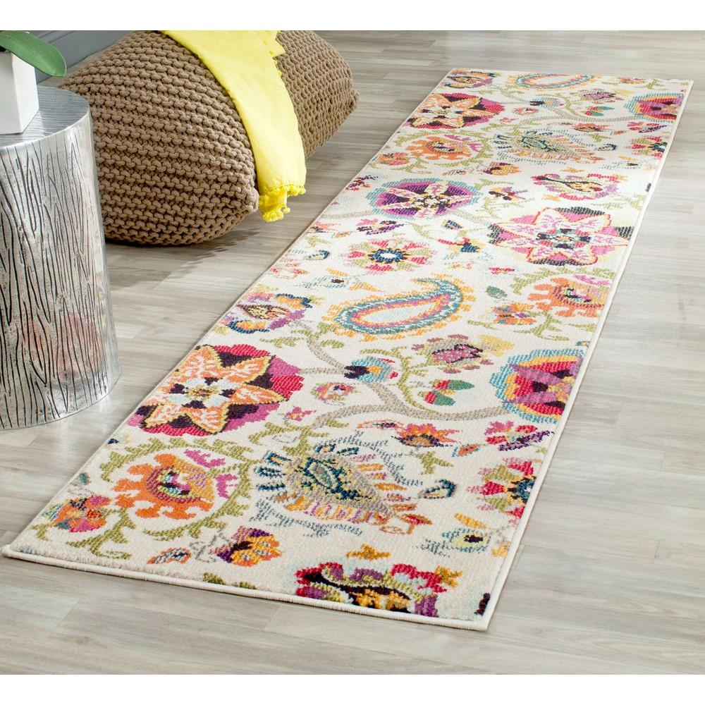 Safavieh Monaco Ivory Multi 2 Ft X 6 Runner Rug
