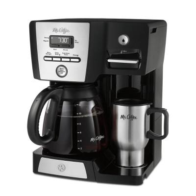 12-Cup Programmable Black Drip Coffee Maker with Hot Water Dispenser