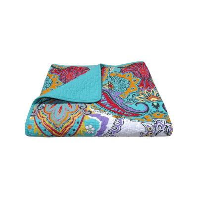 Nirvana Multicolored Quilted Cotton Throw