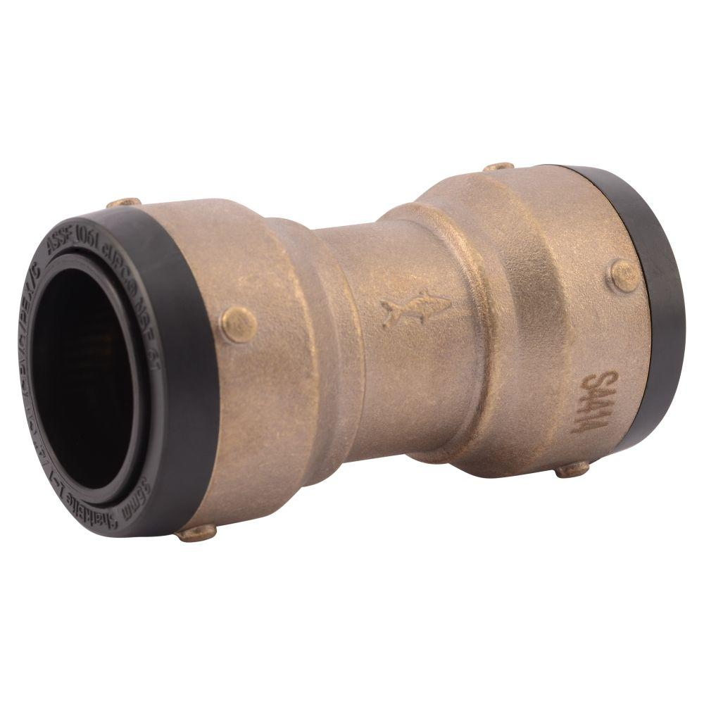 1-1/4 in. Brass Push-to-Connect Coupling