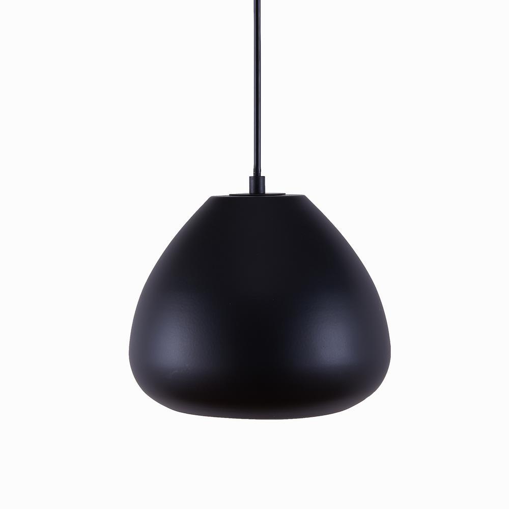 Southern Enterprises Cevera 1-Light Black Dome Pendant Lamp was $89.99 now $40.71 (55.0% off)