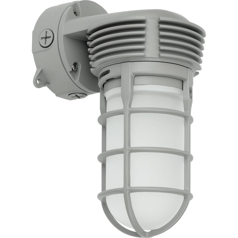 PCVTW Collection 11 -Watt Gray Integrated LED Wall Light
