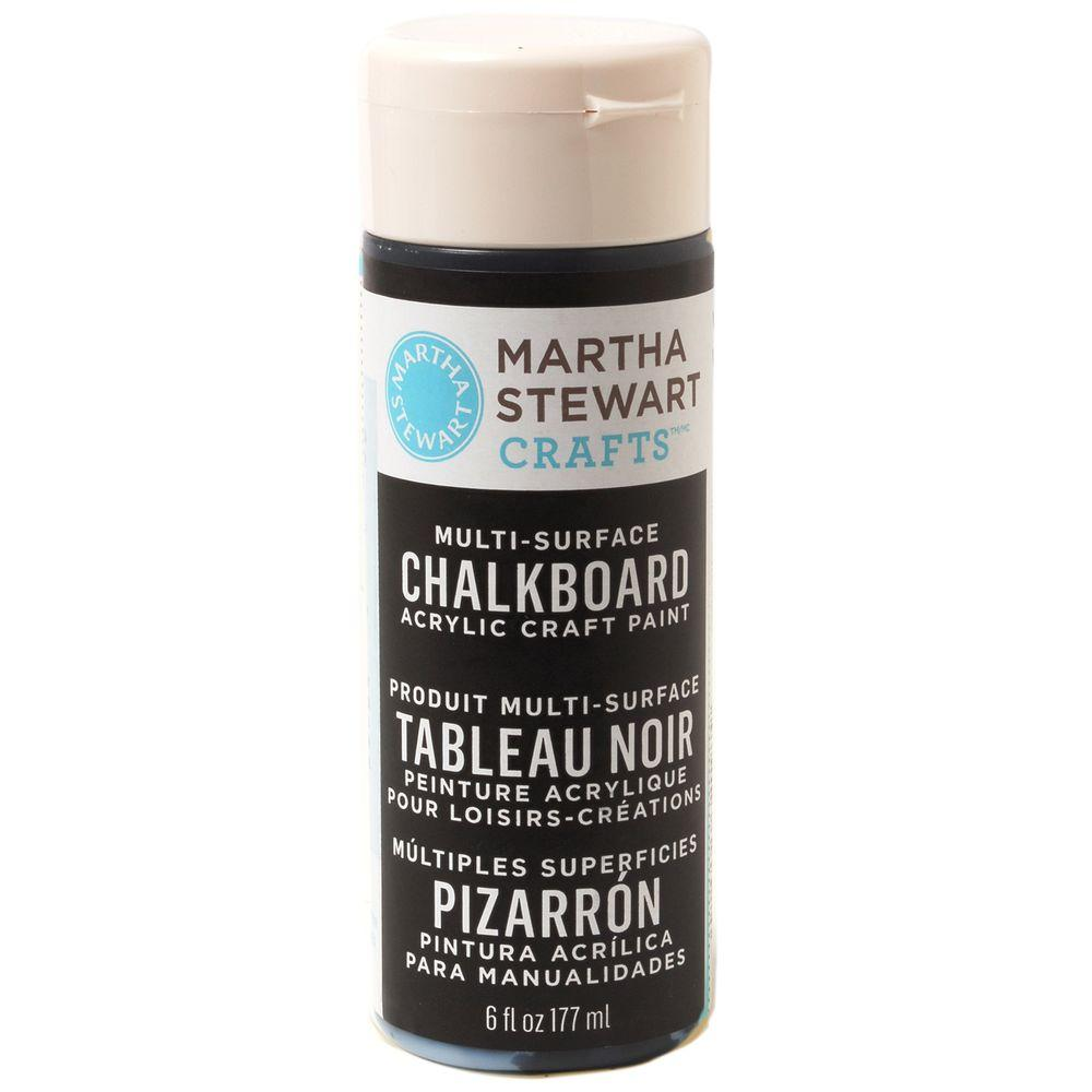 Martha Stewart Crafts 6-oz. Black Multi-Surface Chalkboard Acrylic Craft Paint