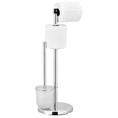 Wayar Toilet Paper Holder with Brush Stand in Sliver