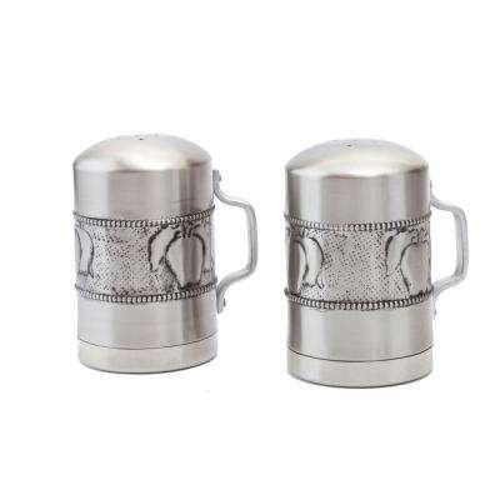 Apple Stainless Steel Salt & Pepper Shakers