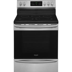 Click here to buy Frigidaire Gallery 30 inch 5.4 cu. ft. Single Oven Electric Range with Self-Cleaning Convection Oven in Stainless Steel by Frigidaire Gallery.