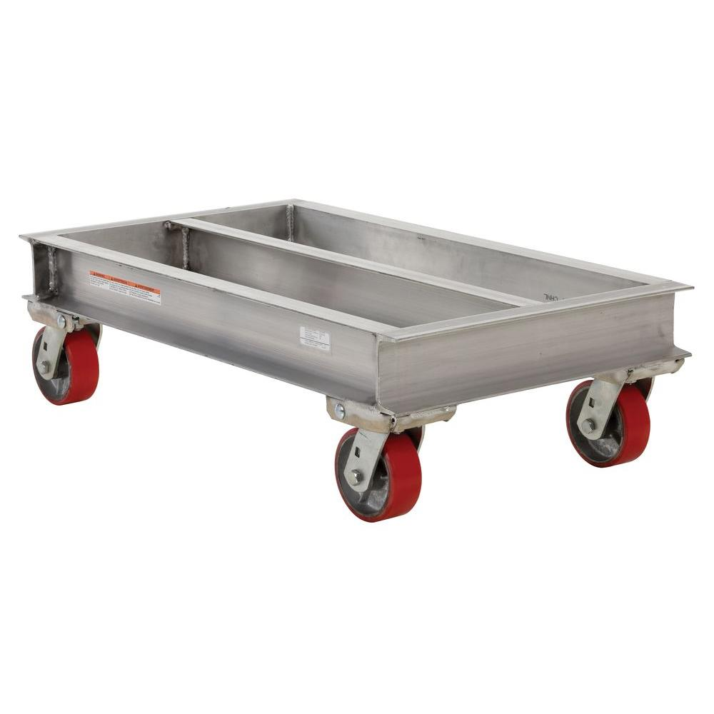 Vestil 2,000 lb. 21 in. x 36 in. Aluminum Channel Dolly