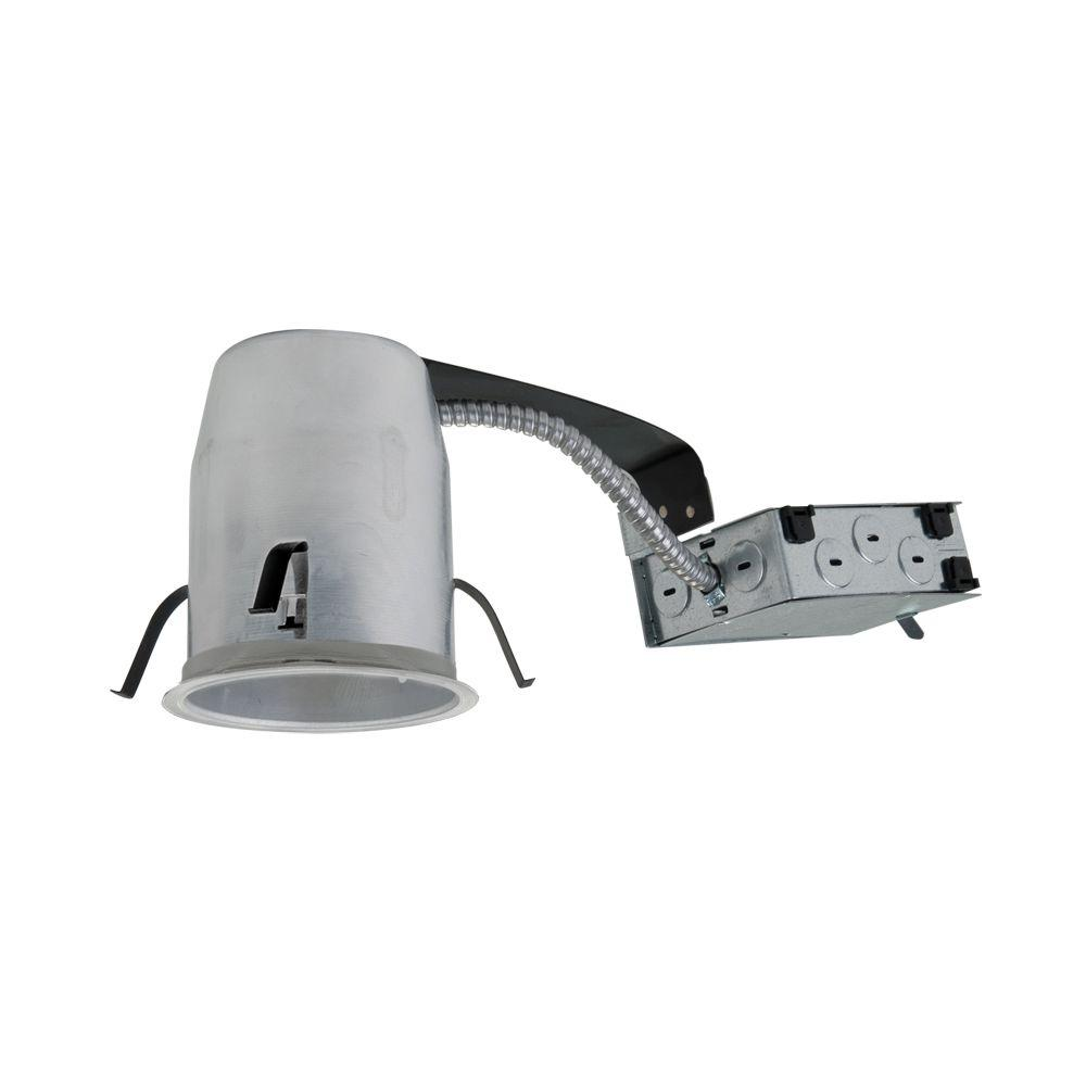 Halo H995 4 in. Aluminum LED Recessed Lighting Housing for Remodel Ceiling, T24, Insulation Contact, Air-Tite (6-Pack)