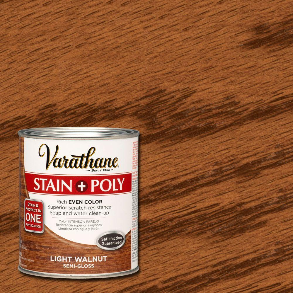 Light Walnut Stain And Polyurethane