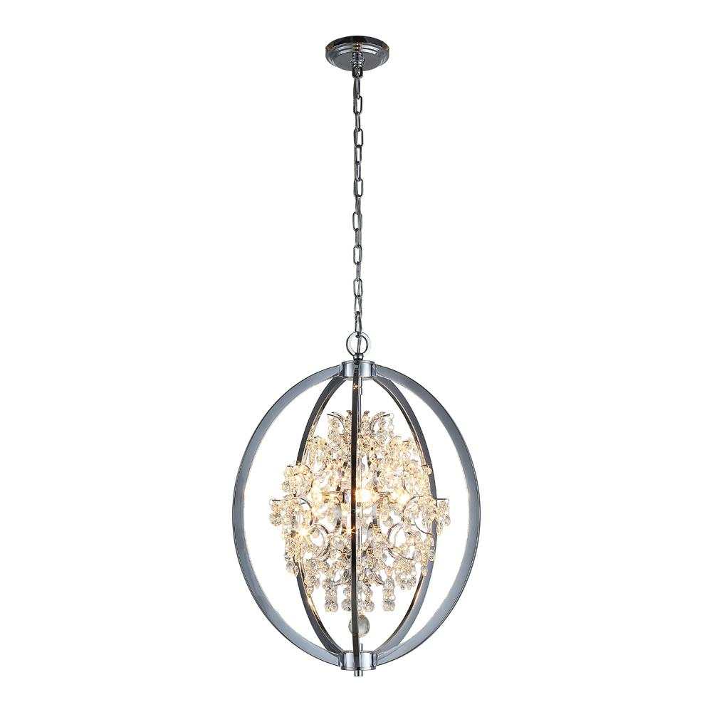 Ove Decors Pena 4 Light Chrome Chandelier Pena The Home
