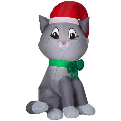 Cat Christmas Inflatables Outdoor Christmas Decorations The Home Depot
