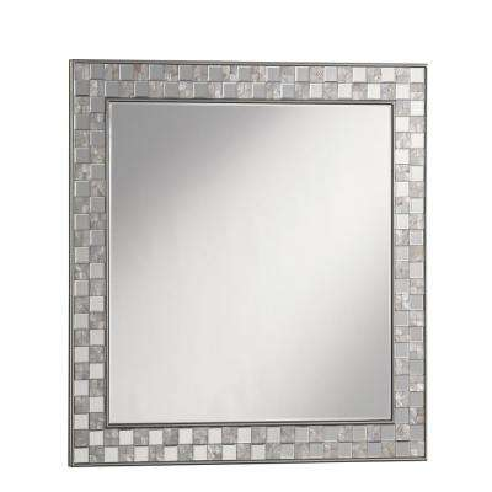 Shane Square Silver Decorative Wall Mirror