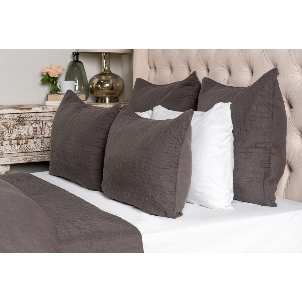 Cressida Charcoal Linen Queen Quilt