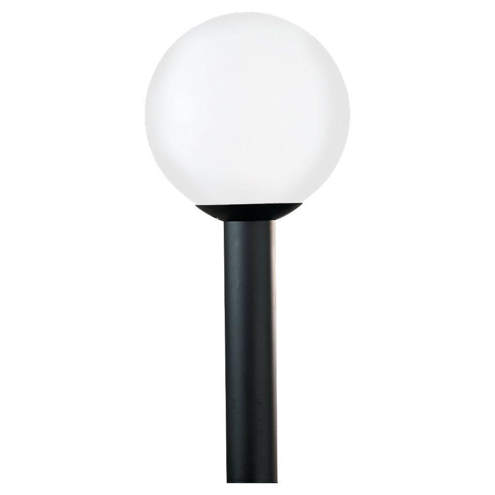 Sea gull lighting outdoor globe collection 1 light outdoor post sea gull lighting outdoor globe collection 1 light outdoor post lantern 8254 68 the home depot aloadofball