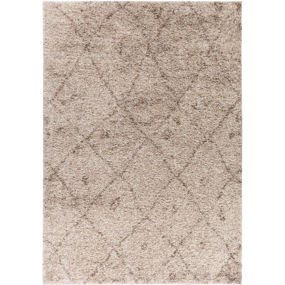 Well Woven Madison Shag Moroccan Lattice Vanilla 5 Ft X 7 Contemporary Argyle Area Rug