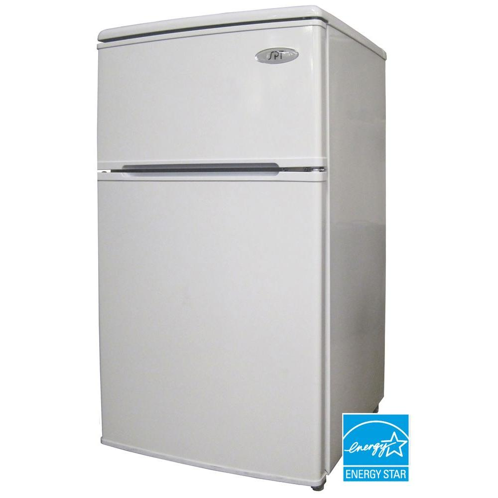 SPT 3.2 cu. ft. Mini Refrigerator in White-DISCONTINUED