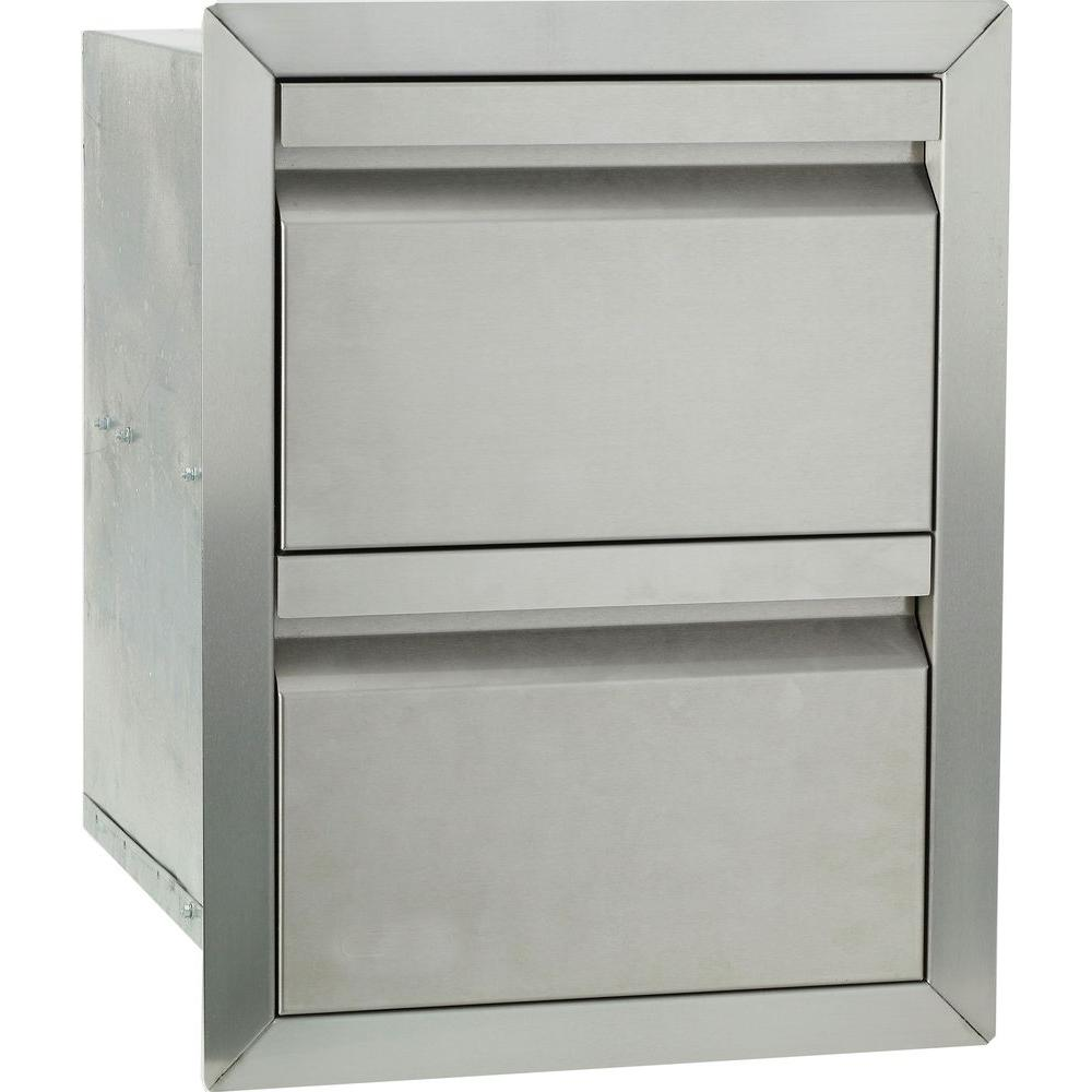 Bullet Barbecue Double Drawer