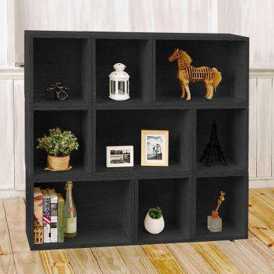 Oxford Eco zBoard Tool Free Assembly Black Stackable Modular Open Bookcase