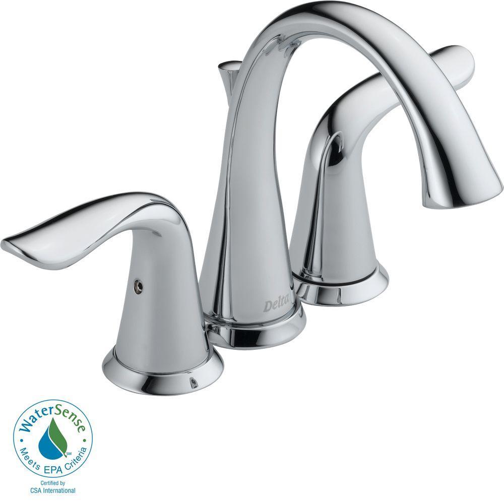 Delta Lahara 4 in. Minispread 2-Handle High Arc Bathroom Faucet in Chrome