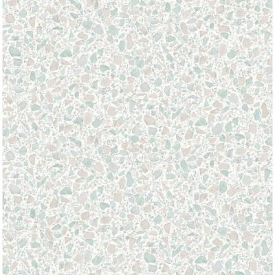 Aldrich Light Grey Terrazzo Wallpaper Sample