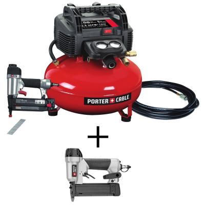 6 Gal. Portable Electric Air Compressor and 18-Gauge Brad Nailer Combo Kit with Bonus 23-Gauge 1-3/8 in. Pin Nailer
