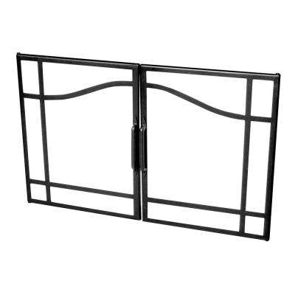 Medium Swing Style Glass Fireplace Doors for Dimplex 39 in. Firebox Insert