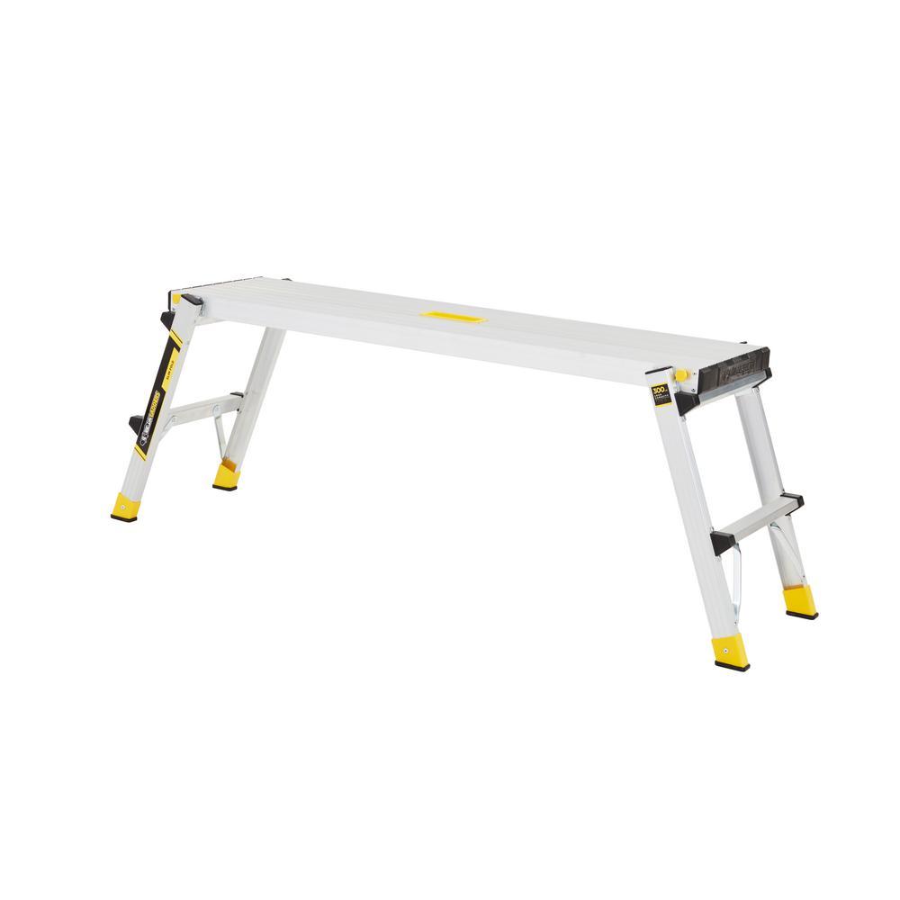 Gorilla Ladders Aluminum Slim-Fold Work Platform w/300 lbs. Load Capacity