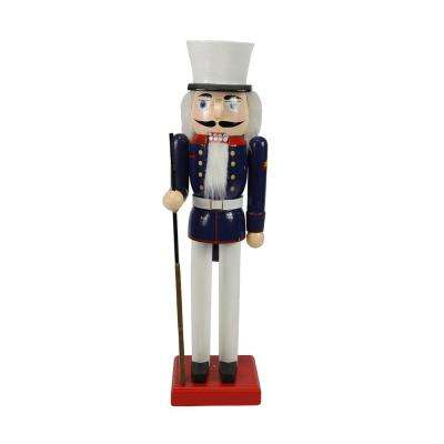 14 in. Decorative Wooden Christmas Nutcracker Soldier in Dress Blues