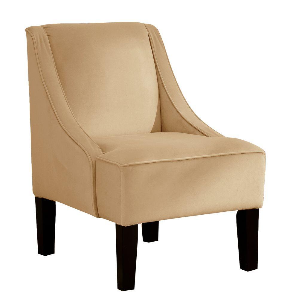 Palisade Buckwheat Velvet Arm Chair