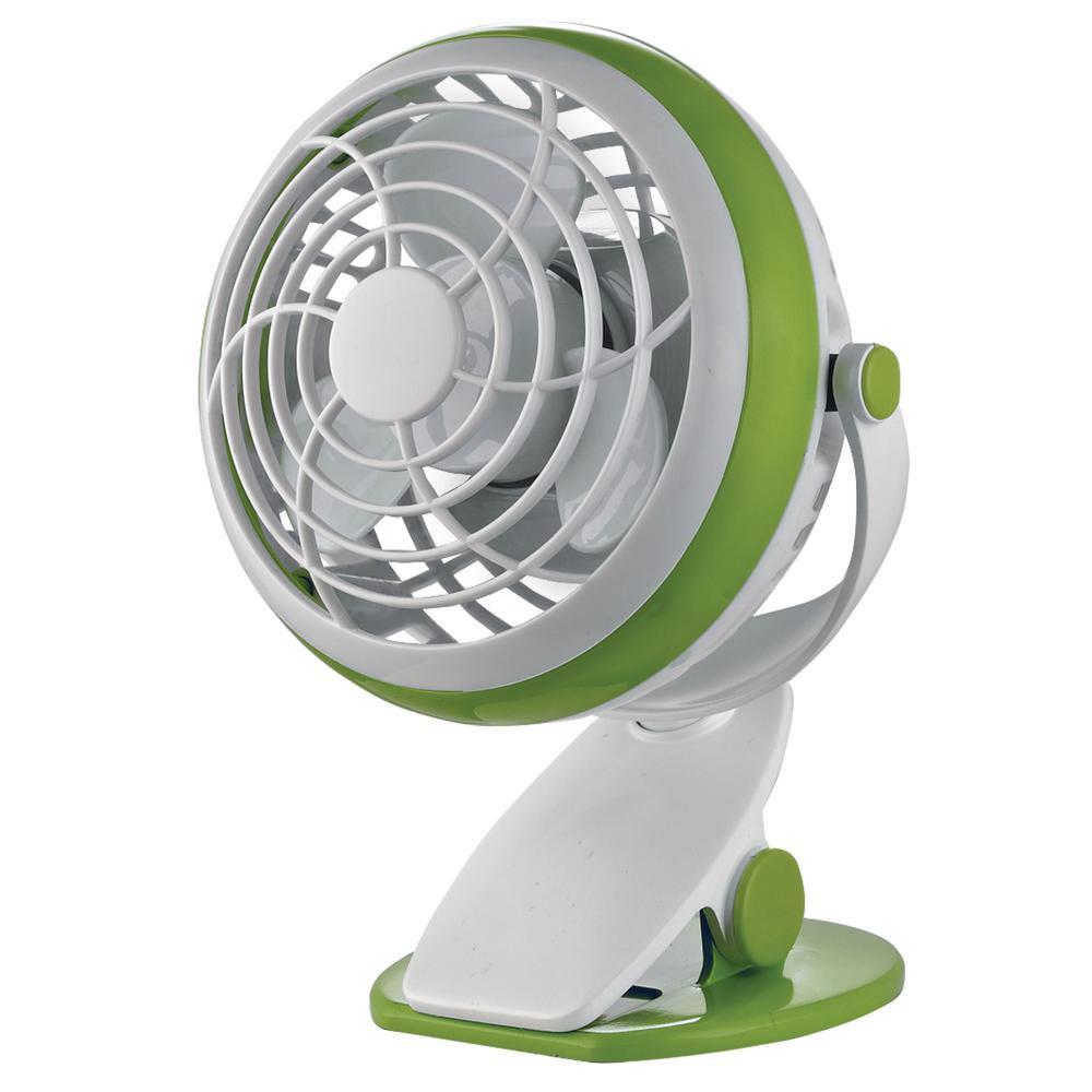 4 in. Personal Clip Fan in Green